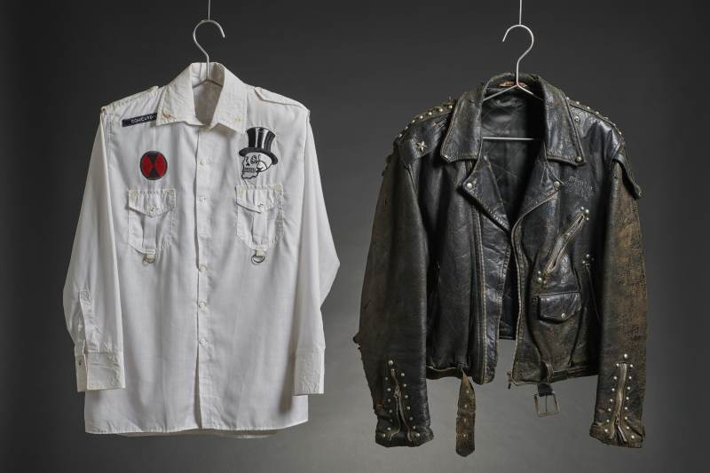 White shirt and leather jacket worn by The Clash