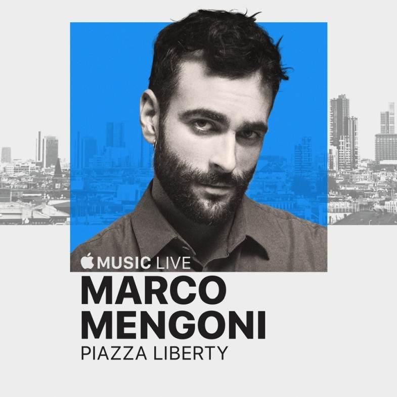 MARCO MENGONI inaugura gli Apple Music Live di Milano