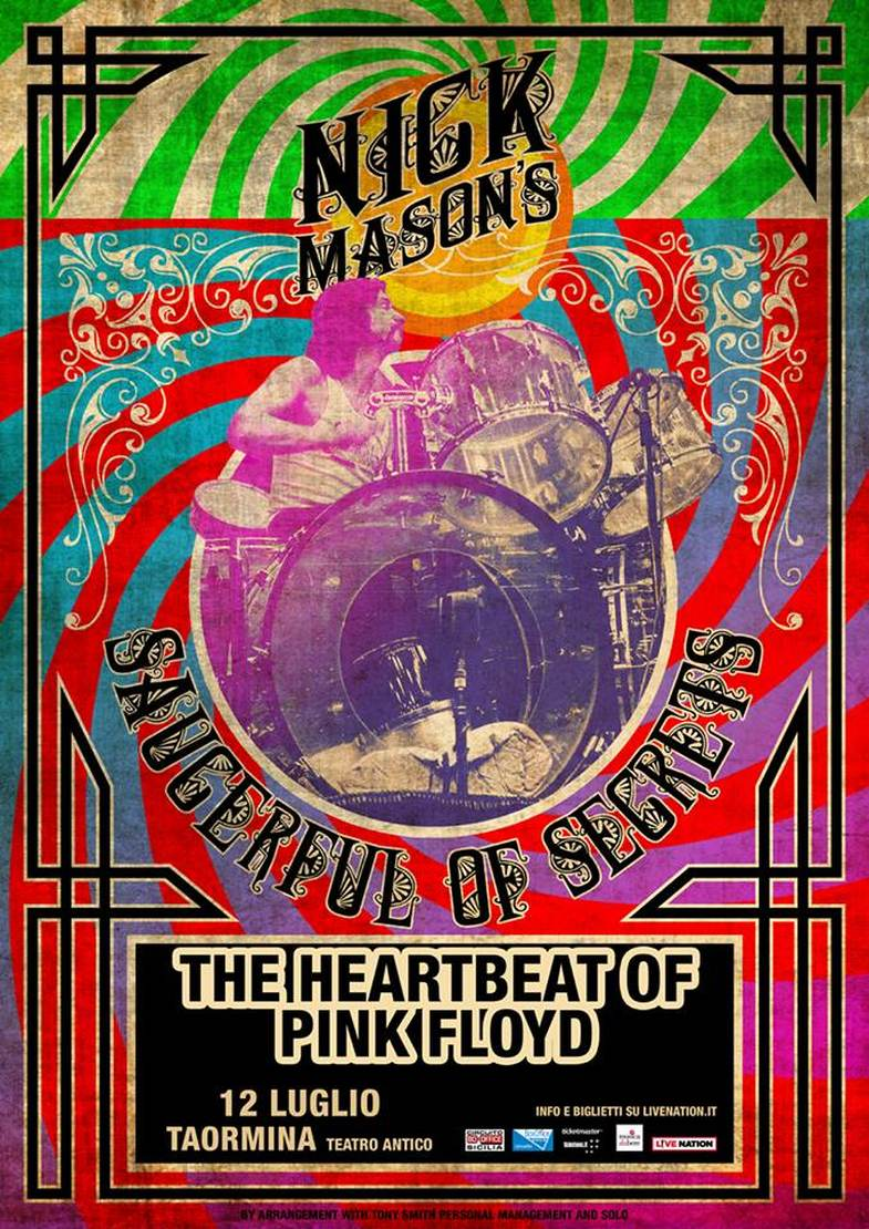 NICK MASON dei Pink Floyd arriva al Teatro Antico di Taormina
