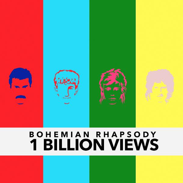 """Superato un miliardo di visualizzazioni per video musicale dei Queen """"Bohemian Rhapsody"""""""