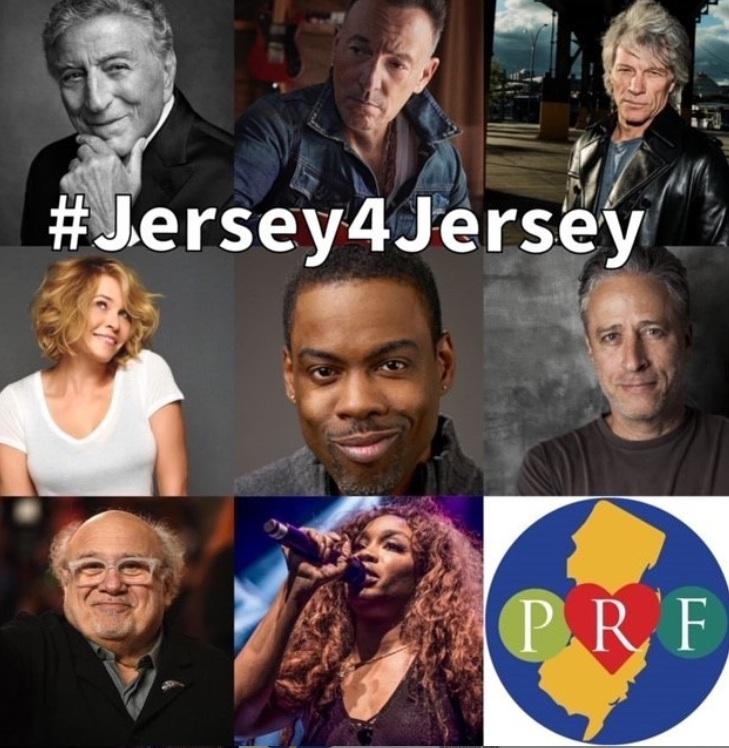 """JERSEY 4 JERSEY Benefit Show"" la raccolta fondi con Jon Bon Jovi e Bruce Springsteen"