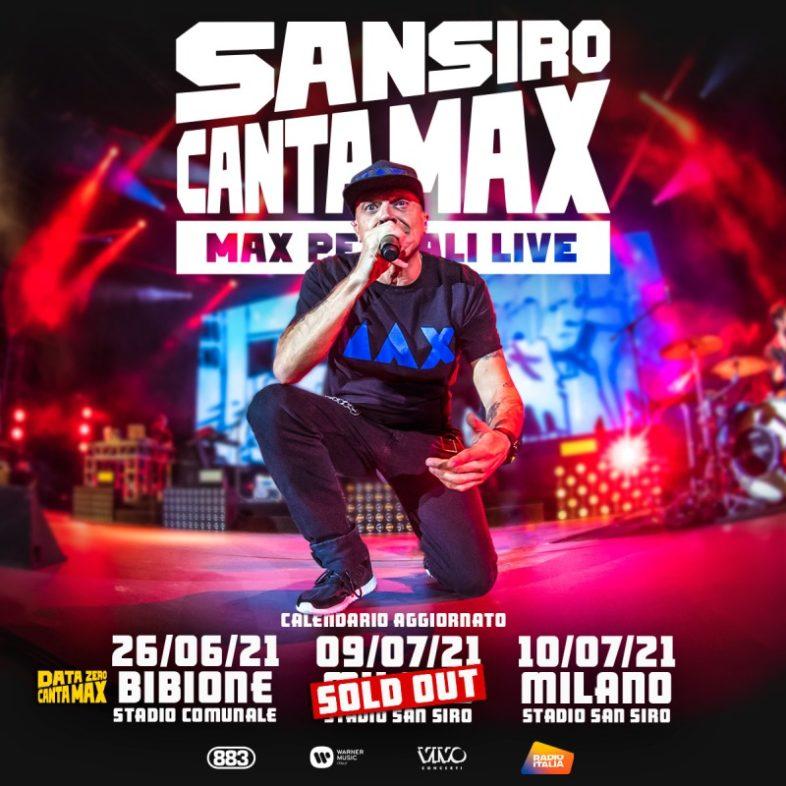 """MAX PEZZALI – Riprogrammate le date di """"SAN SIRO CANTA MAX"""""""
