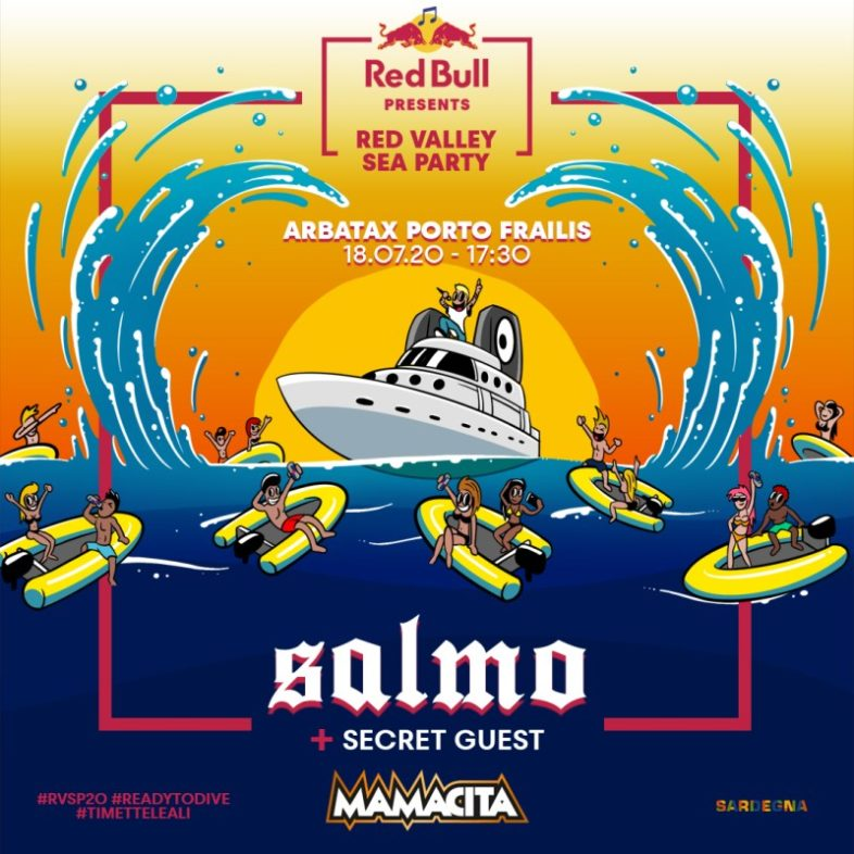SALMO un concerto in mezzo al mare di Sardegna con il Red Valley Sea Party