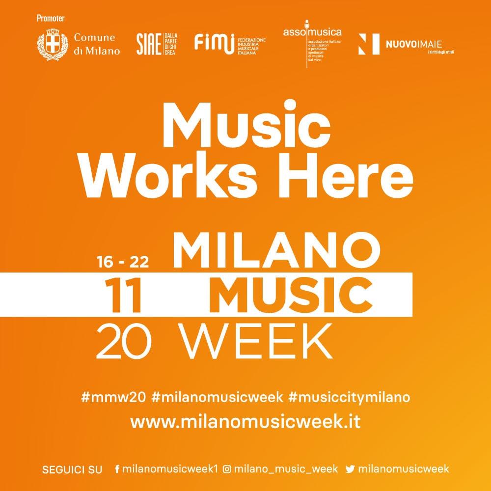MILANO MUSIC WEEK 2020 dal 16 al 22 novembre per la settimana dedicata alla musica