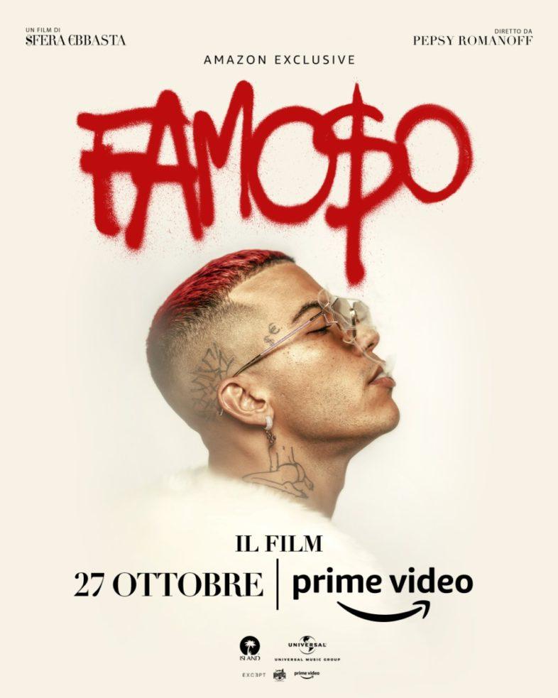 """SFERA EBBASTA """"Famoso"""" non solo un disco ma anche un film su Amazon Prime Video. Guarda il trailer"""