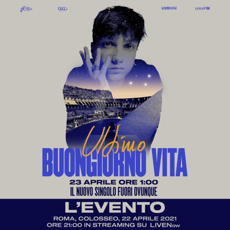"""ULTIMO live in streaming """"Buongiorno vita – L'evento"""". Info e Biglietti"""