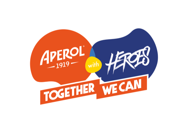 APEROL WITH HEROES – TOGETHER WE CAN live e in diretta streaming il 17 e 18 settembre